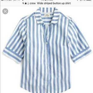 J. Crew, Wide striped short sleeve shirt